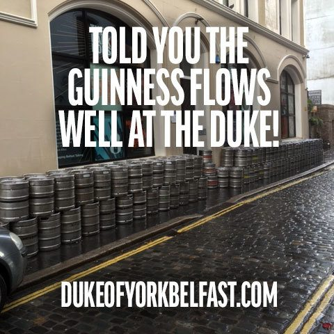 We told you the Guinness flowed well