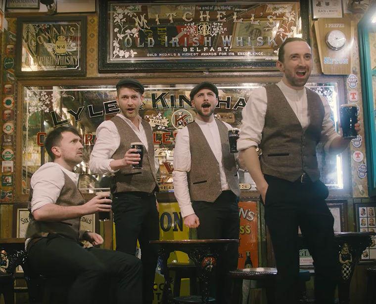 The Shamrock Tenors film their latest promo video in the Duke.
